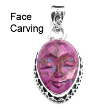 Face Carving Gemstone Jewelry
