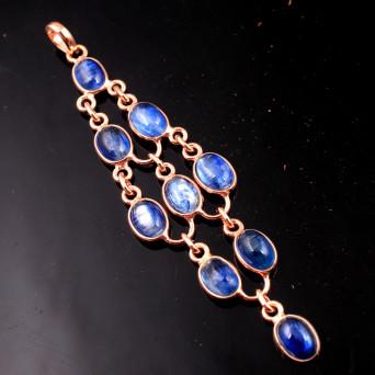 925 Sterling Silver Kyanite Rose Gold Pendant